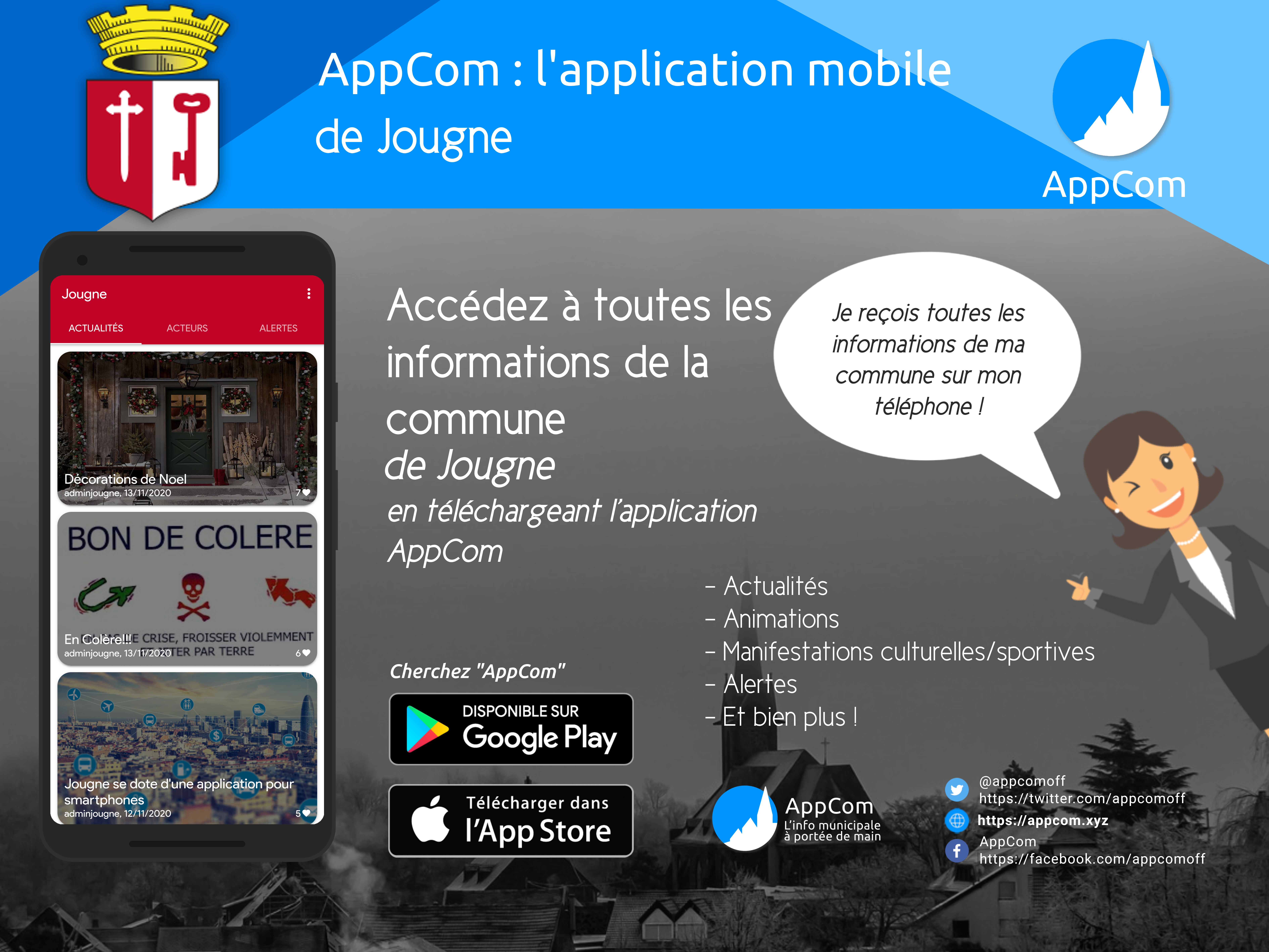 AppCom : Application mobile de Jougne